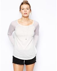 Asos Baseball Top in Burnout - Lyst