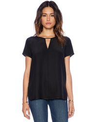 Frame Denim Black Le Tee - Lyst
