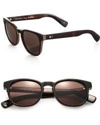 Paul Smith Hadrian 50mm Round Acetate Sunglasses - Lyst