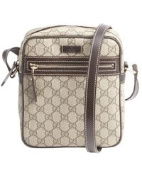 Gucci Beige and Cocoa Gg Plus Joy Crossbody Bag - Lyst
