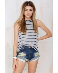 Nasty Gal Line Up Striped Tank - Lyst