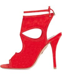 Aquazzura - Sexy Thing Suede Cut-Out Pumps - Lyst