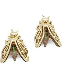 Alexis Bittar Iridescent Bumble Bee Stud Earrings - Gold - Lyst