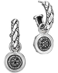 John Hardy Sapphire-drop Chain Earrings - Lyst