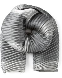 Armani Tonal Accordian Pleats Scarf - Lyst