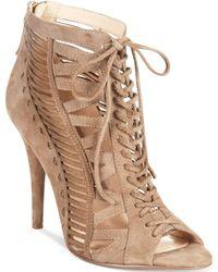Nine West Beige Angellica Sandals - Lyst