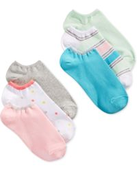 Hue Cotton No Show 6 Pack Socks - Lyst