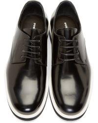 Public School - Black Leather Platform Derbys - Lyst