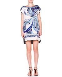 Emilio Pucci Cap-Sleeve Shift Dress - Lyst