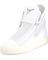 Giuseppe Zanotti Mesh High-Top Sneaker - Lyst