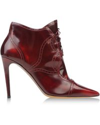 Tabitha Simmons Purple Ankle Boots - Lyst