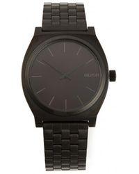 Nixon All Black Time Teller Watch - Lyst