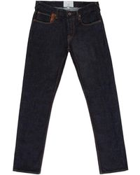 Paul Smith Tapered-Fit Indigo Kuroki Salt & Pepper Jeans - Lyst