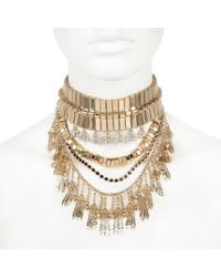 River Island | Gold Tone Chunky Statement Choker Necklace | Lyst