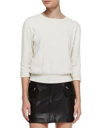 Marc By Marc Jacobs Lucinda Mixtexture Knit Sweater - Lyst
