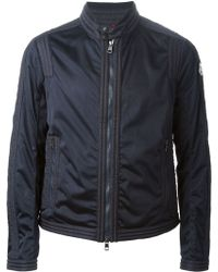 Moncler Perforated Ribbed Jacket - Lyst