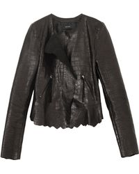 Isabel Marant Boston Embossed Croc Jacket - Lyst