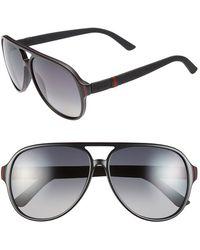 Gucci '1065S' 59Mm Polarized Aviator Sunglasses - Lyst