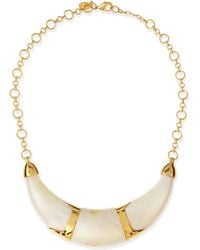 Kara Ross - Pearly Resin Collar Necklace - Lyst