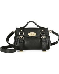 Mulberry Mini Alexa Satchel Bag - For Women - Lyst