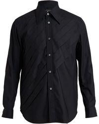 Comme Des Garçons Pleat Front Cotton Shirt - Lyst
