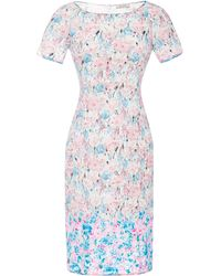Nina Ricci Floralprint Lace Dress - Lyst