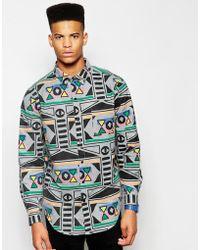 Lazy Oaf - Shirt In Aztec Print - Lyst