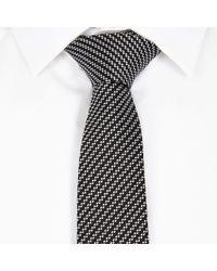 River Island Black Diagonal Stripe Tie - Lyst