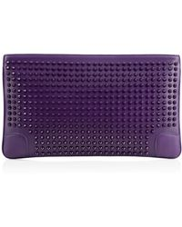 Christian Louboutin Purple Loubiposh Clutch - Lyst