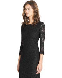 Diane von Furstenberg Zarita Long Lace Dress - Lyst