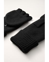 Rag & Bone Keighley Fingerless Gloves black - Lyst