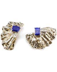 Eilisain Jewelry Comet Lapis Lazuli & Sterling Silver Earrings - Lyst