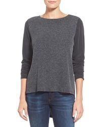 Everleigh - Cupro Knit High/low Top - Lyst