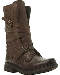 Steve Madden Bounty Quited Leather Biker Boots - Lyst