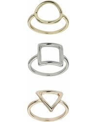 TOPSHOP - Fine Shape Ring Multi-pack - Lyst