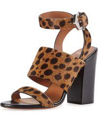 Givenchy Leopard-Print Calf Hair City Sandal - Lyst