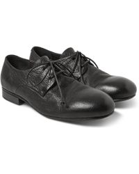Marsell Textured-leather Derby Shoes - Lyst