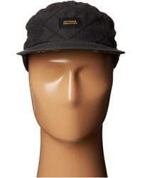 Nixon Lowtide Quilted Strap Back Hat - Lyst