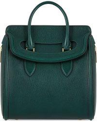 Alexander McQueen Mcq Heroine Medium Grained Leather Tote Green - Lyst