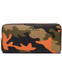 Michael by Michael Kors Jet Set Leather Travel Continental Wallet - Lyst