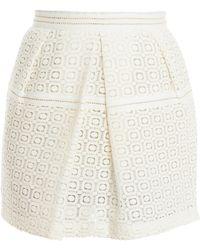 Paul & Joe Sister Embroidery Skirt white - Lyst