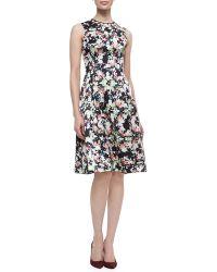 Erdem Bunty Floral Silk Dress with Full Skirt - Lyst
