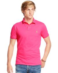 Polo Ralph Lauren | Men\u0026#39;s Custom-fit Mesh Polo Shirt | Lyst