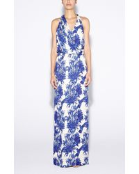 Nicole Miller Chinoiserie Maxi Dress - Lyst