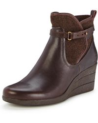 Ugg Emalie Waterproof Wedge Ankle Boots - Lyst
