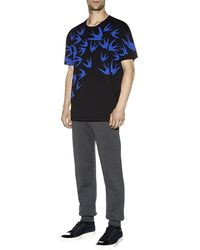 McQ by Alexander McQueen Swallow Print Tshirt - Lyst