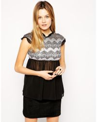 Traffic People Lace Embrace Modesty Top - Lyst