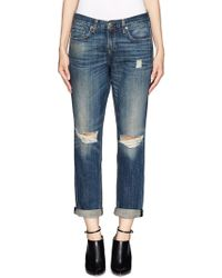 Rag & Bone Buckley Boyfriend Jeans - Lyst