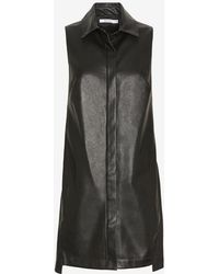 Bailey 44 Exclusive Leather-like Shirtdress - Lyst