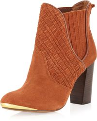 Elliott Lucca - Wovenfront Suede Boot Tobacco 10 - Lyst